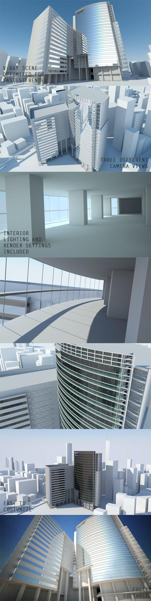 Exterior Scene  - 3DOcean Item for Sale