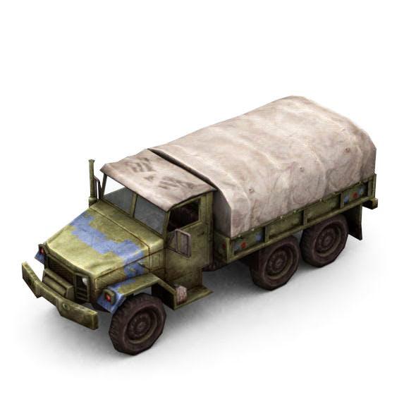 Military Modern War Transport Truck (Blue) - 3DOcean Item for Sale
