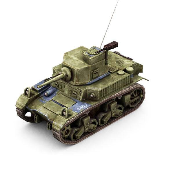 Military Modern War Light Tank (Blue) - 3DOcean Item for Sale
