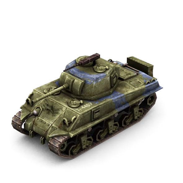 Military Modern War Heavy Tank (Blue) - 3DOcean Item for Sale