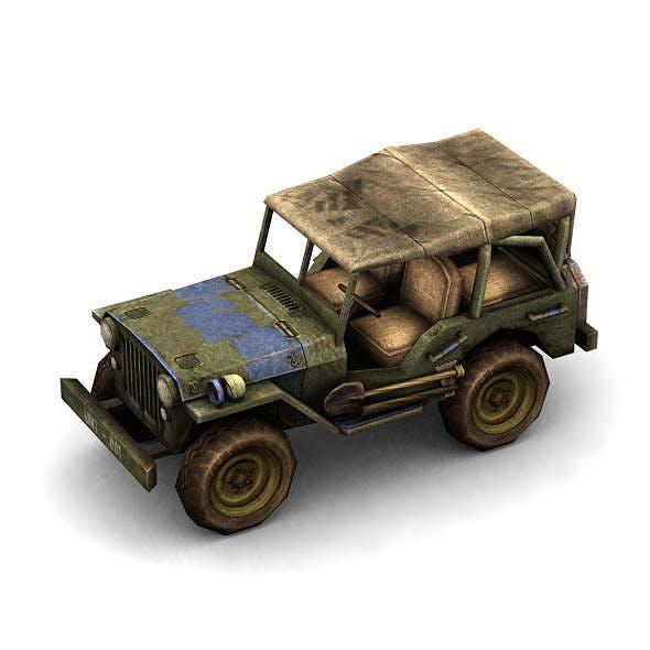 Military Modern War Jeep (Blue) - 3DOcean Item for Sale