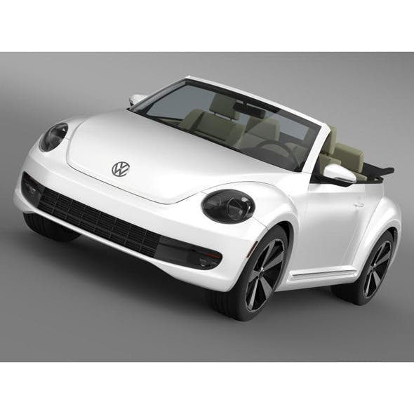 VW Beetle Turbo Cabrio - 3DOcean Item for Sale