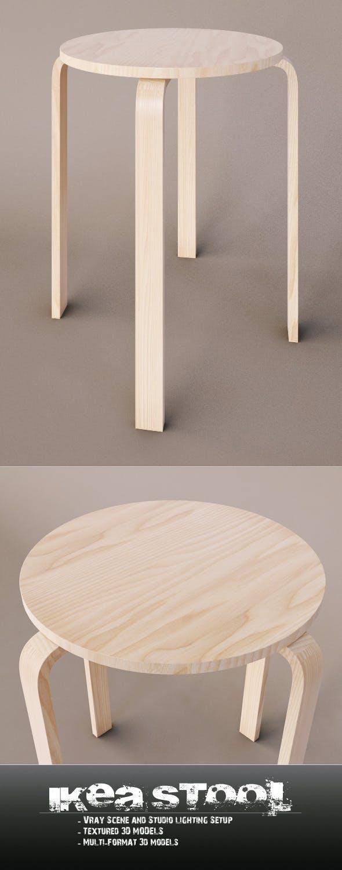 Ikea Stool - 3DOcean Item for Sale