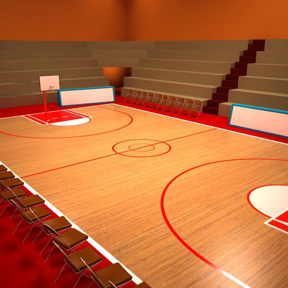 Basketball Playground - 3DOcean Item for Sale