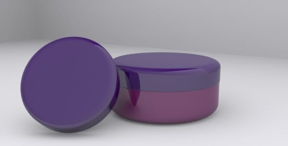 3D Cream Jar Model - 3DOcean Item for Sale