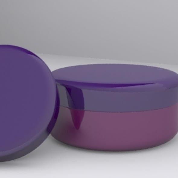 3D Cream Jar Model