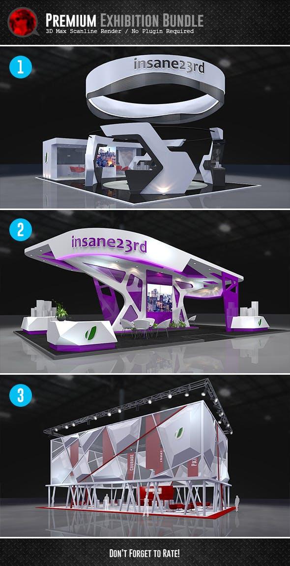 Bundle: Premium Exhibition Design Booths - 3DOcean Item for Sale