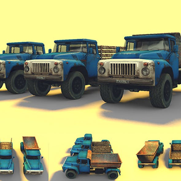 Low Poly GAZ-53 Game Model