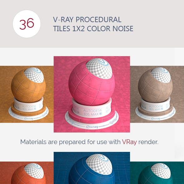 V-Ray Procedural Tiles 1x2 Color Noise