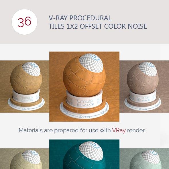 V-Ray Procedural Tiles 1x2 Offset Color Noise