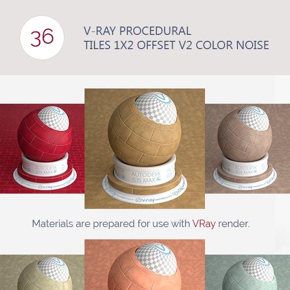 V-Ray Procedural Tiles 1x2 Offset V2 Color Noise
