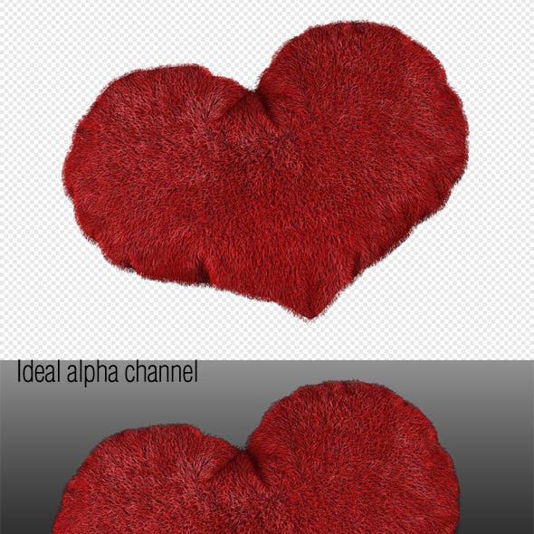 3D love heart valentines day. Scene