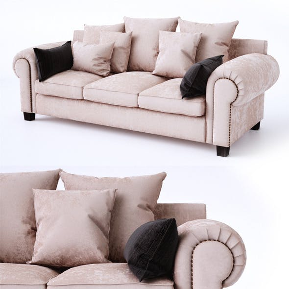Classic sofa with pillows