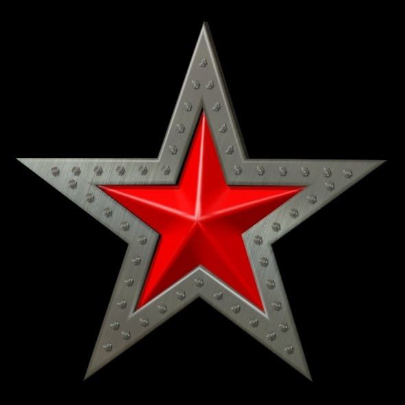 Red star - 3DOcean Item for Sale
