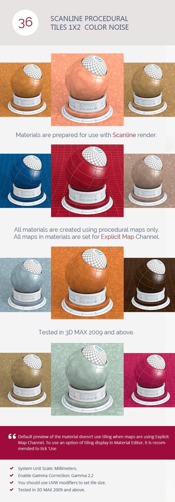 Scanline Procedural Tiles 1x2  Color Noise - 3DOcean Item for Sale