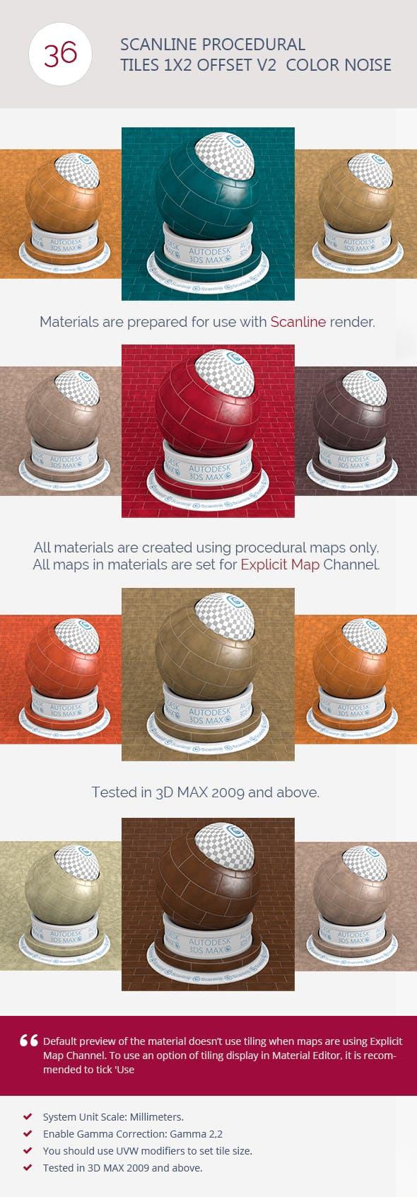 Scanline Proc. Tiles 1x2 Offset V2  Color Noi - 3DOcean Item for Sale