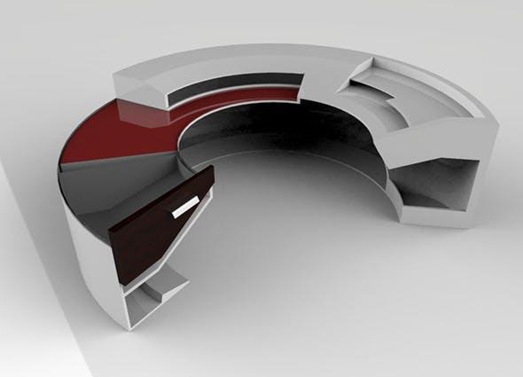 Arc Desk - 3DOcean Item for Sale