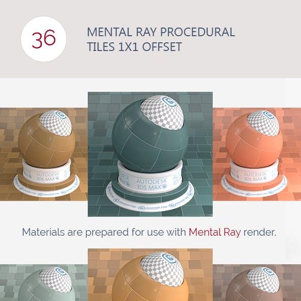 Mental Ray Procedural Tiles 1x1 Offset