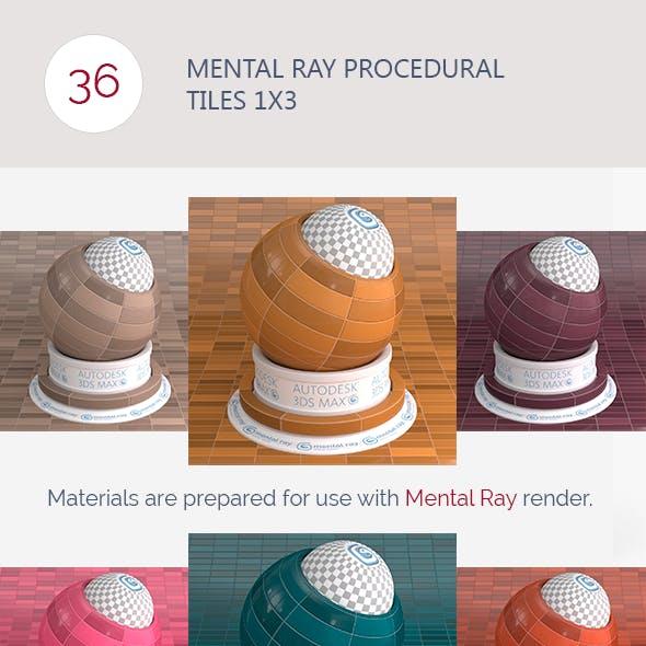 Mental Ray Procedural Tiles 1x3