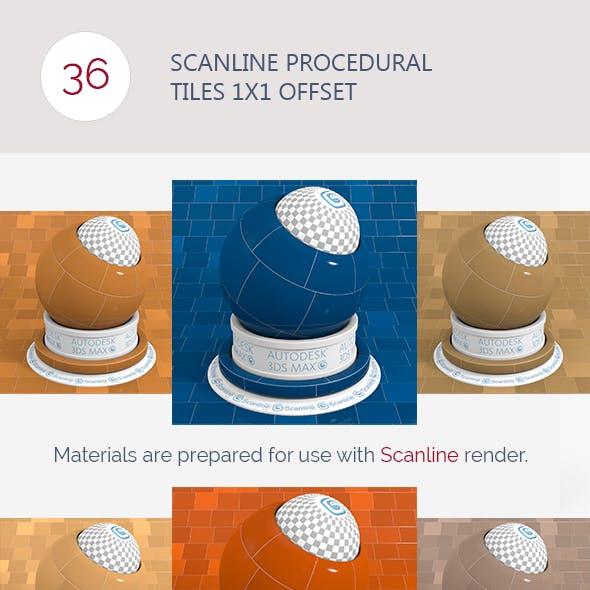 Scanline Procedural Tiles 1x1 Offset
