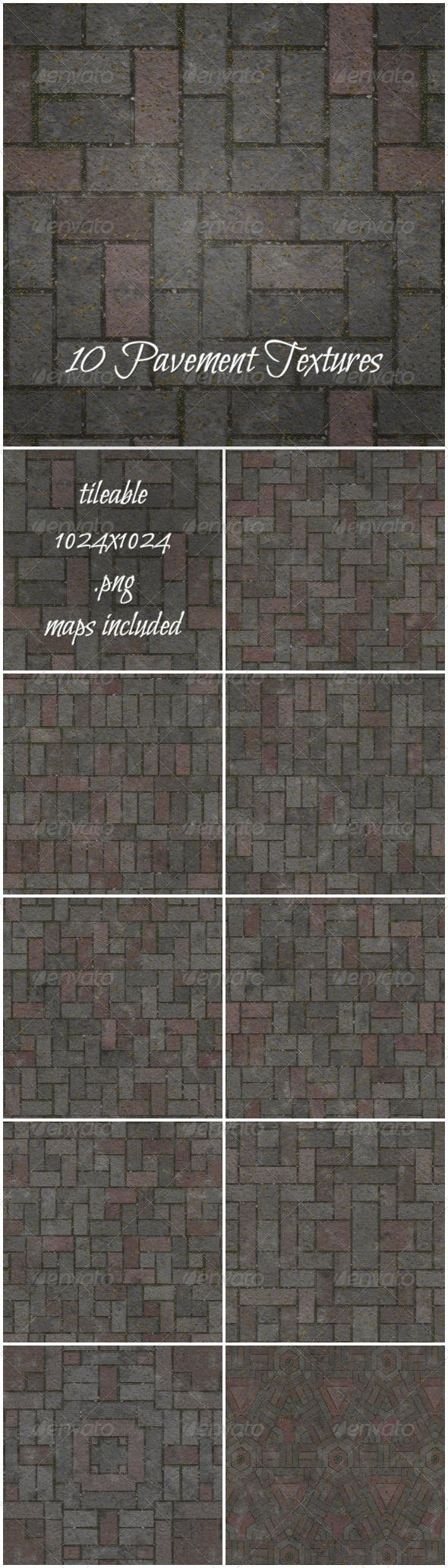 Pavement Pack - 3DOcean Item for Sale