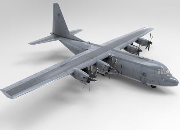 Low Poly US Lockheed C130 Hercules Airplane - 3DOcean Item for Sale