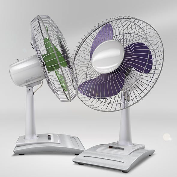 Desk Fan Model - 3DOcean Item for Sale