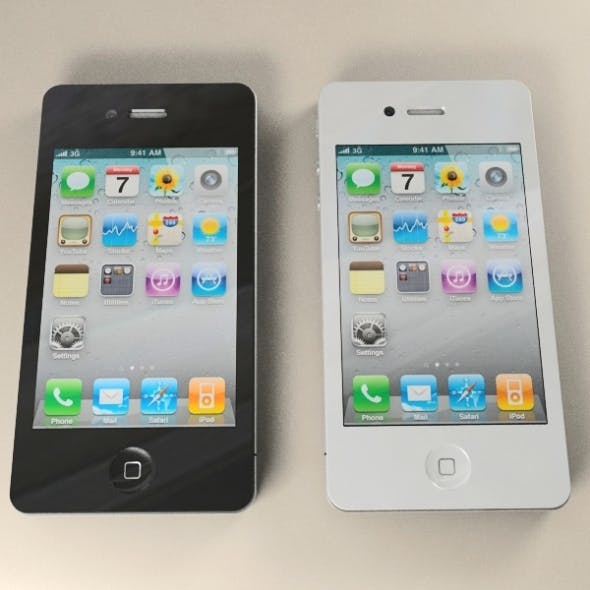 Apple iPhone 4G - 3DOcean Item for Sale
