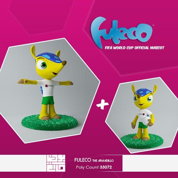 Fuleco The Armadillo 3D Model