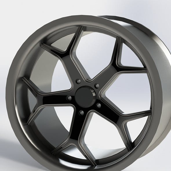 20inc wheel rim - 3DOcean Item for Sale