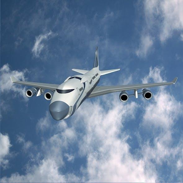 Futuristic aircraft concept - 3DOcean Item for Sale