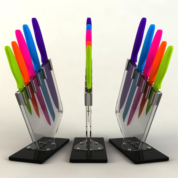5 Piece Knife Set  - 3DOcean Item for Sale
