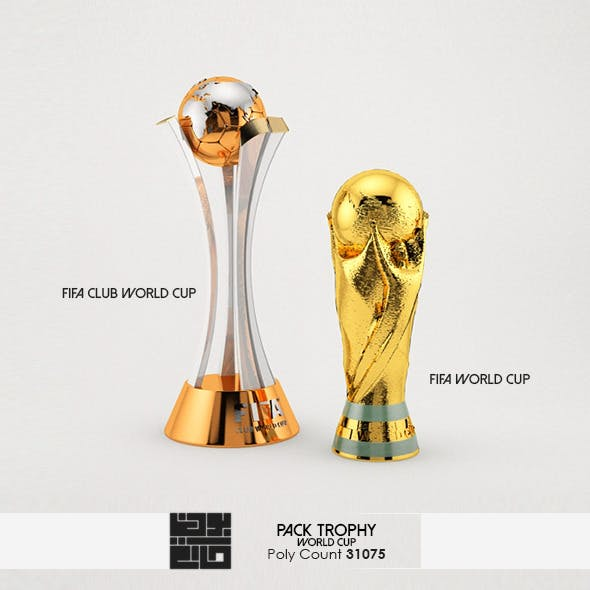 Pack Of  World Cup Trophies 3D Model