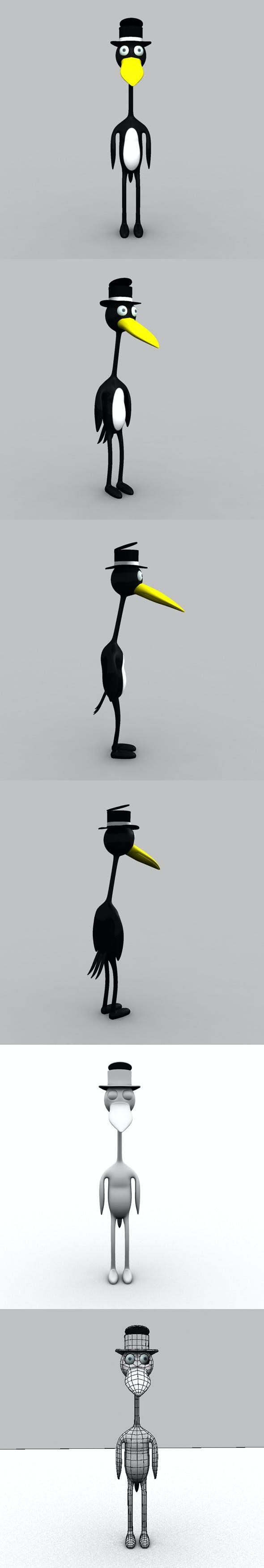 Corny Crow Model - 3DOcean Item for Sale