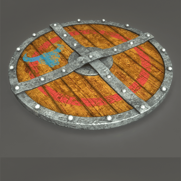 3D Viking Wooden Shield