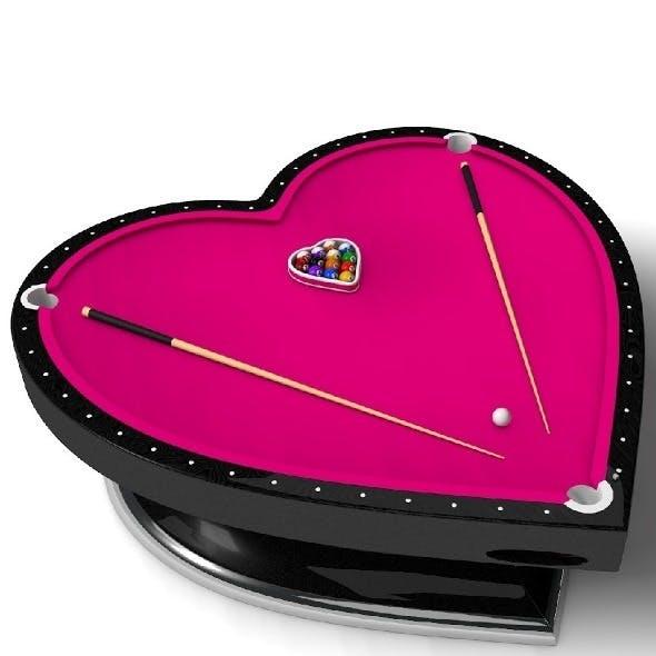 heart type billiard