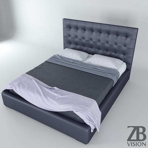 Padded Bed - 3DOcean Item for Sale