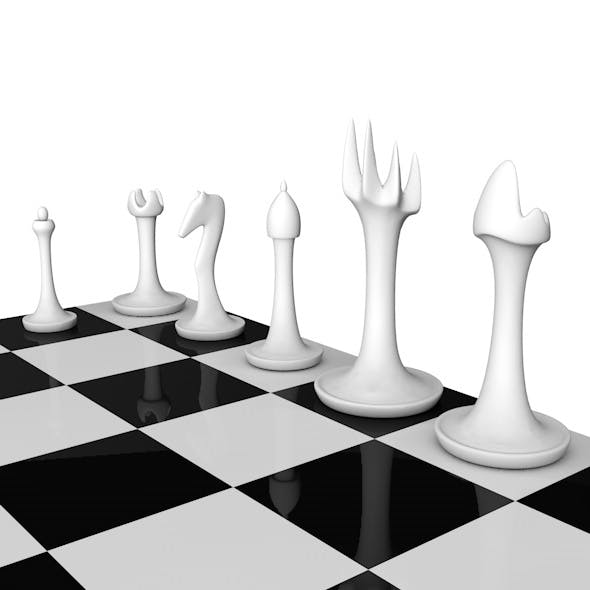 Stylish Chess Set - 3DOcean Item for Sale