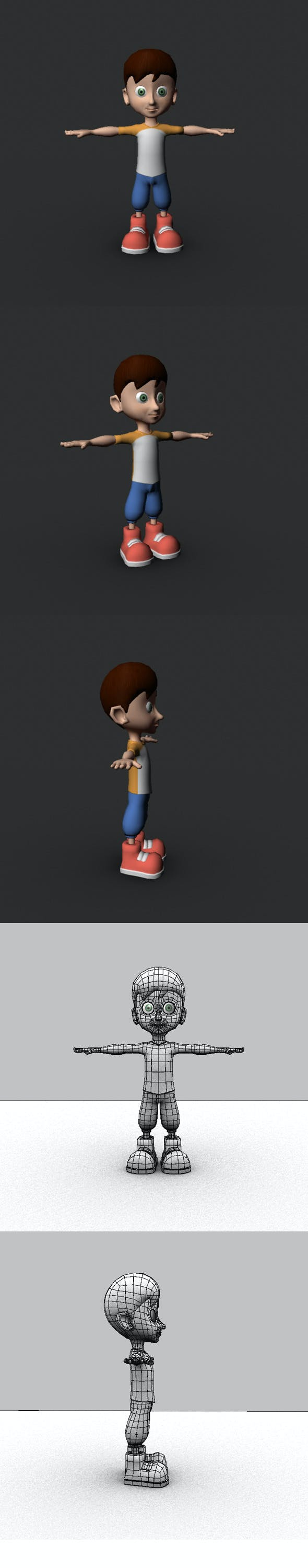 Low Poly Cartoon Character - 3DOcean Item for Sale