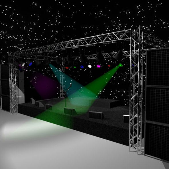 Rock Stage - 3D Model - 3DOcean Item for Sale