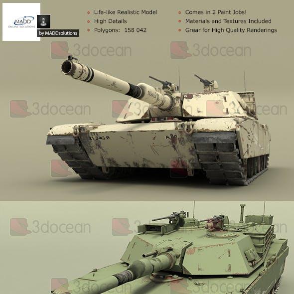 High Detail Realistic Tank - M1A1 Abrams