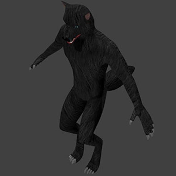 Low Poly Werewolf