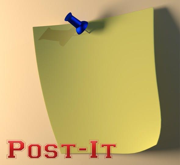 Post-It - 3DOcean Item for Sale