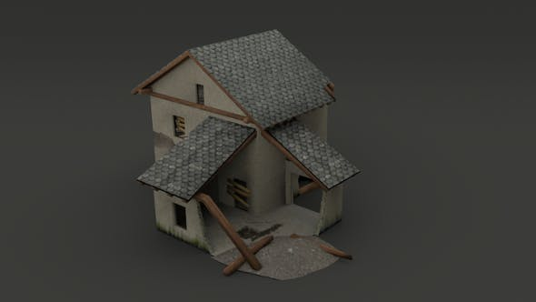 Destroyed House - 3DOcean Item for Sale