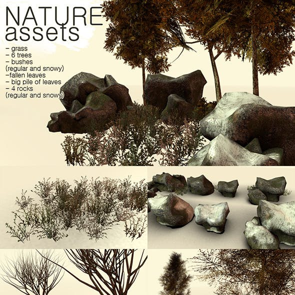 Low Poly Nature Assets Game Pack