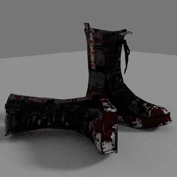 Zombie Boots - 3DOcean Item for Sale