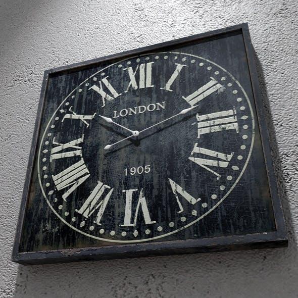 Retro Wall Clock - 3DOcean Item for Sale