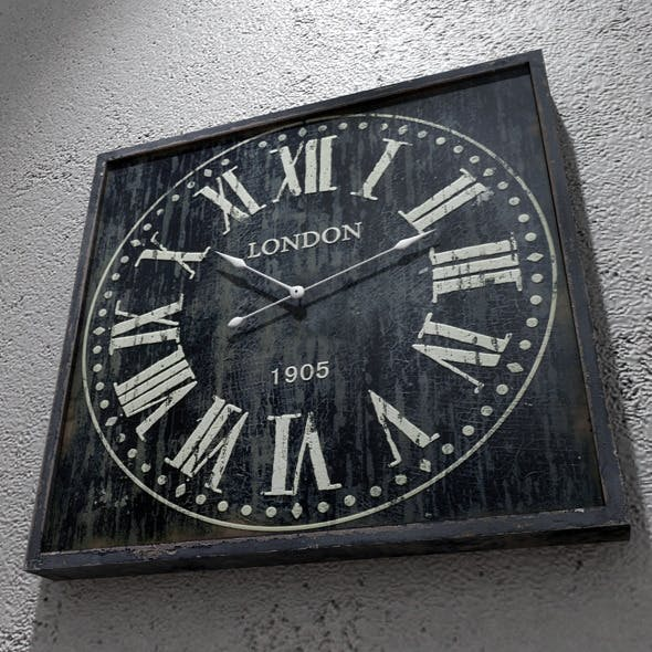 Old Clock CG Textures & 3D Models from 3DOcean