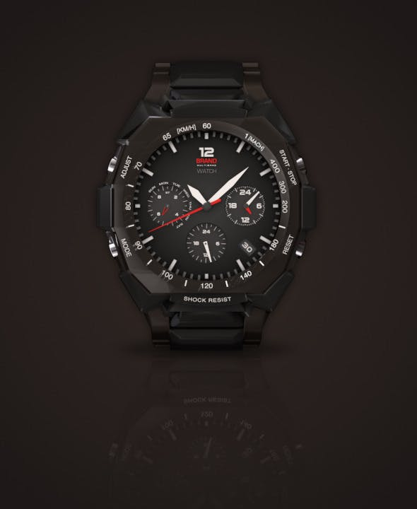 Rugged Watch - 3DOcean Item for Sale