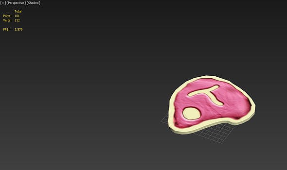 Steak - 3D Game Asset - 3DOcean Item for Sale